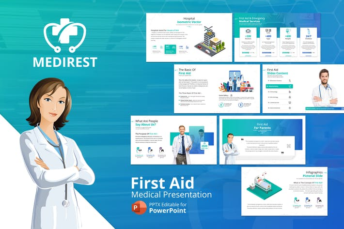 Thumbnail for Medirest – First Aid Presentation Template