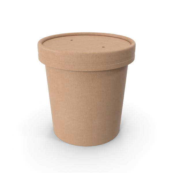Крафт-бумага Food Cup с вентилируемой крышкой одноразовое ведро для мороженого 12 унций 300 мл