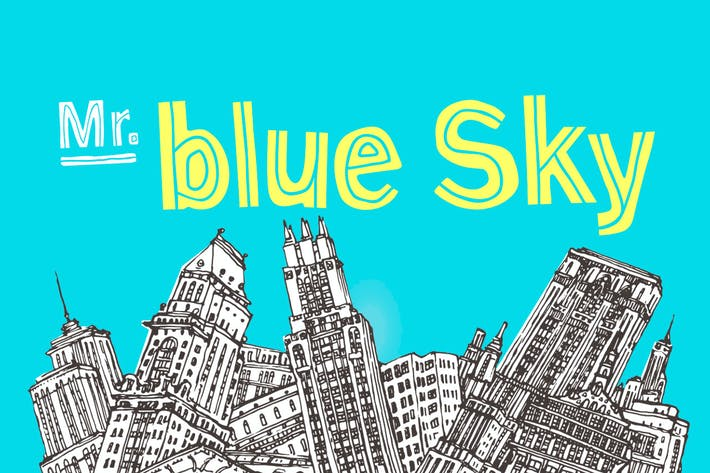 Thumbnail for Mr Blue Sky Font