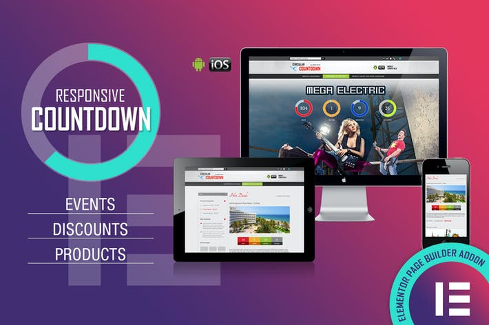 Thumbnail for CountDown PRO - Events/Products - Elementor Widget