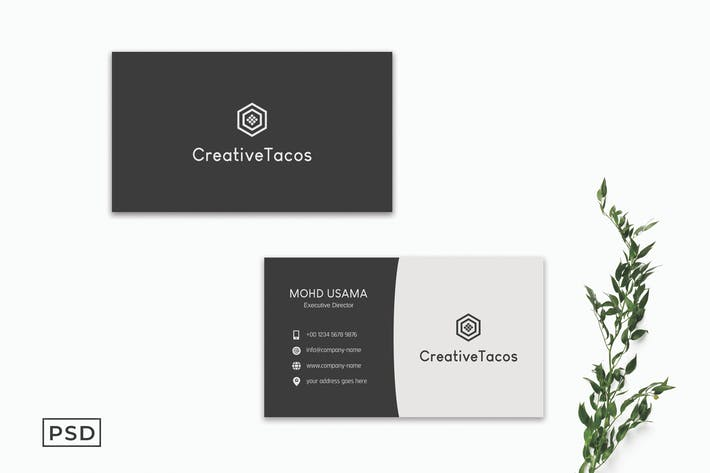 Black & Gray Business Card Template