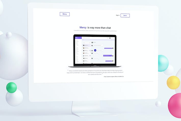 Thumbnail for Service Agency Landing Page PSD Template