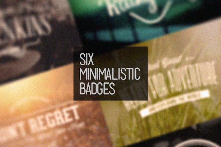 Six Minimalistic Badges