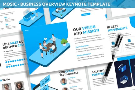 Mosic - Business Overview Keynote Template