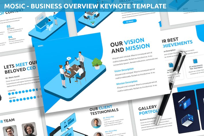 Thumbnail for Mosic - Business Overview Keynote Template