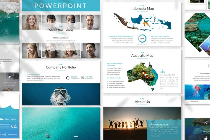 Thumbnail for Mare - Ocean Powerpoint Template