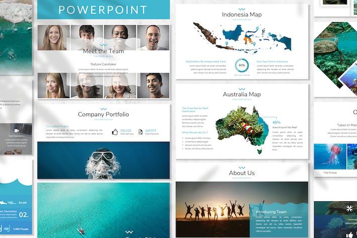 Mare - Шаблон Powerpoint океана