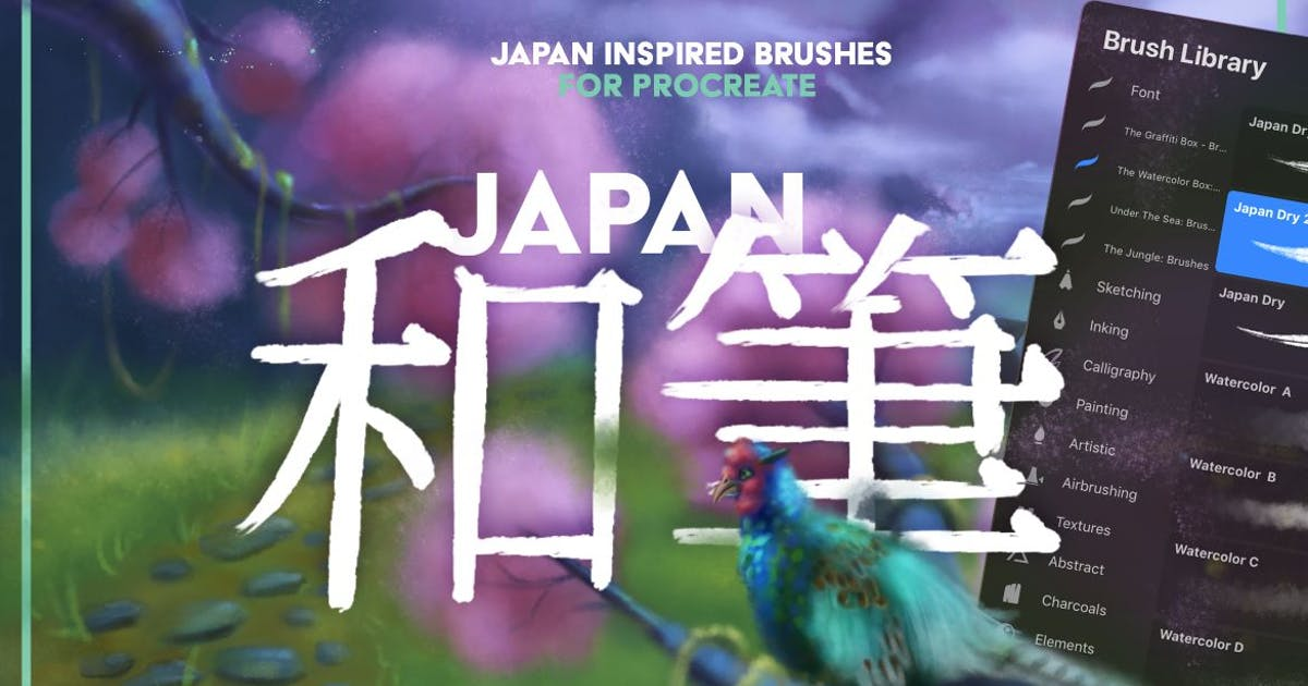 Download Japan: Procreate Brushes by LeoSupply