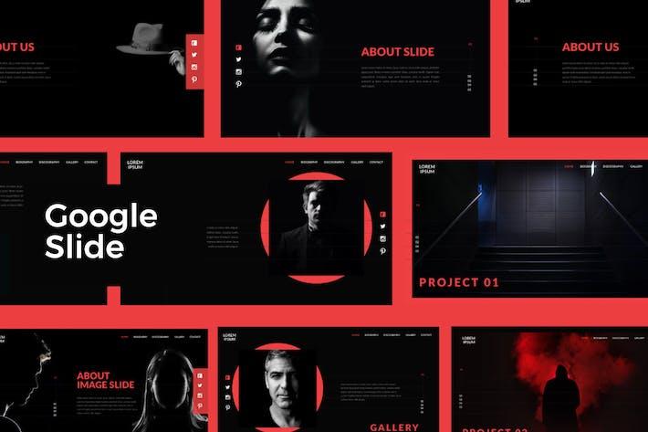 Thumbnail for Black Google Slide