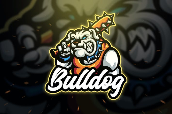Thumbnail for Bulldog Sport and Esport Logo Template