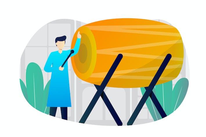 Thumbnail for Bedug Flat Illustration