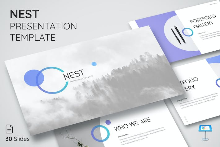 Thumbnail for Nest - Keynote Presentation Template