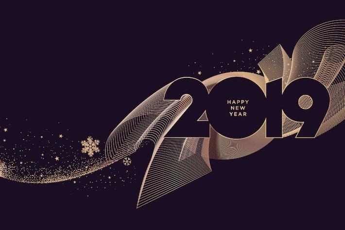 Cover Image For Новогодняя поздравительная открытка