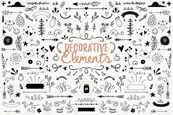 Cover Image For Handdrawn Decorative Elements