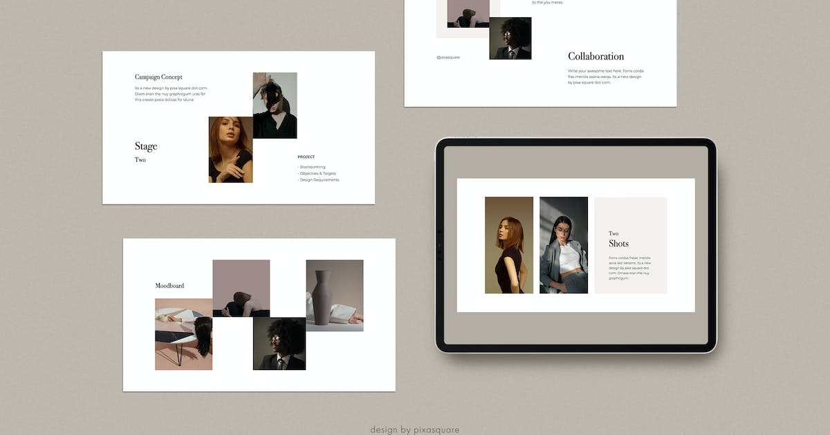 Download DONA - Media/Press Kit Powerpoint Template by Pixasquare