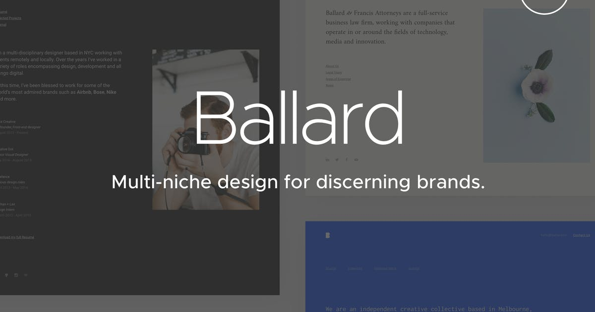 Download Ballard | CV, Agency, Law & Restaurant Template by medium_rare