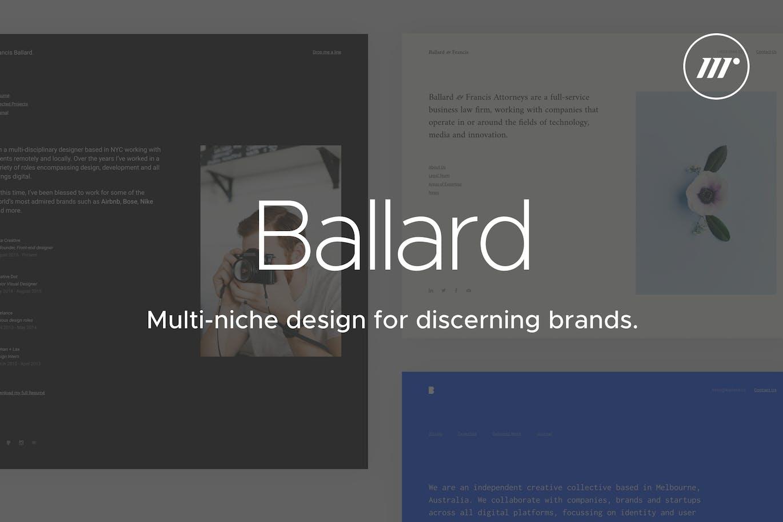 ballard   cv, agency, law & restaurant templatemedium_rare on