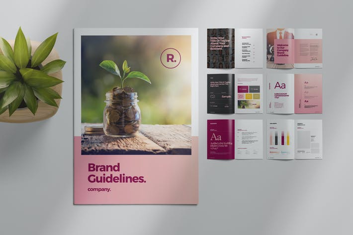 Thumbnail for Brand Style Guide Layout