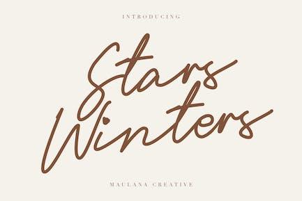 Stars Winters Typeface