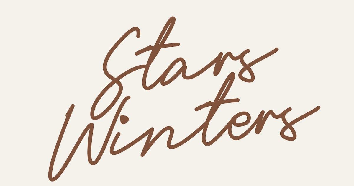 Download Stars Winters Typeface by maulanacreative