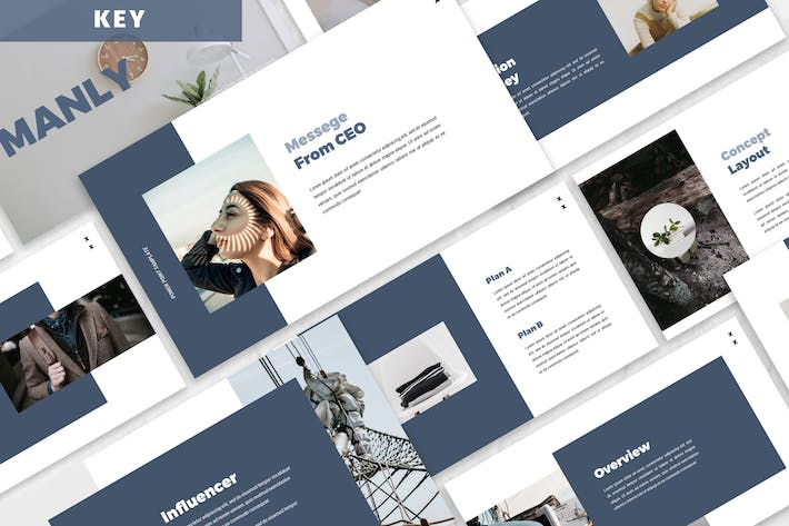 Thumbnail for Manly - Business Keynote Presentation Template