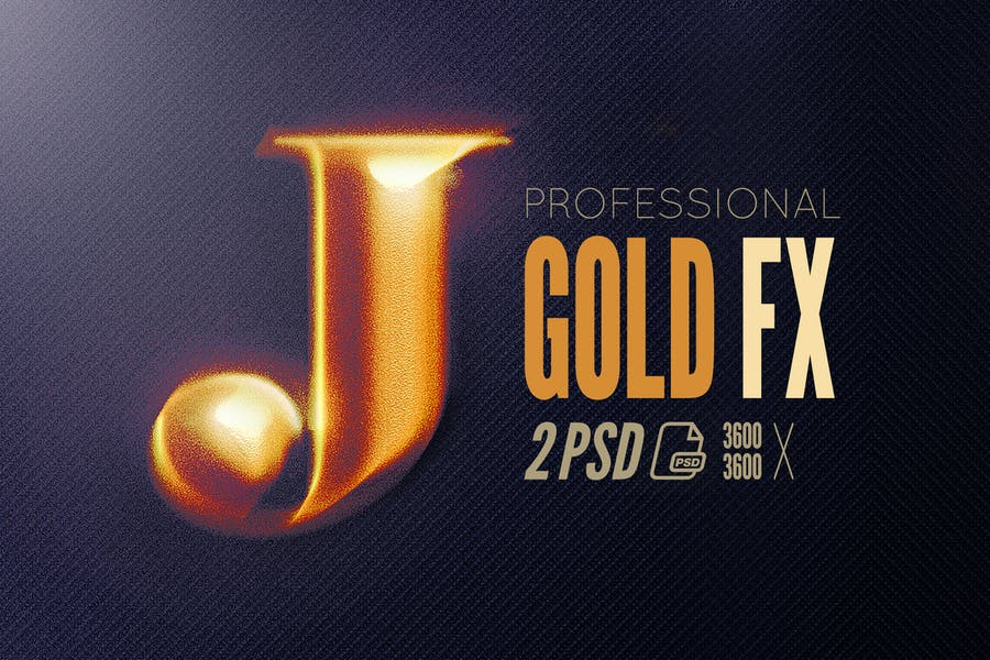 Epic Gold FX for Adobe Photoshop