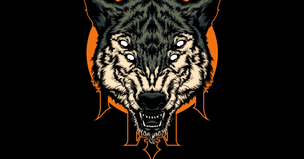 Download wolf head illustration by the-sastra