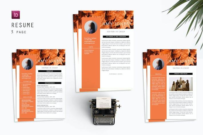 Thumbnail for Amy Jones Resume Designer