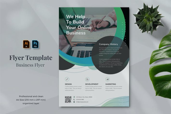 Thumbnail for Business Flyer Template 25