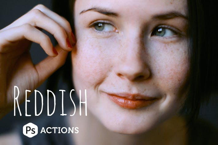 Cover Image For Reddish Photoshop Actions