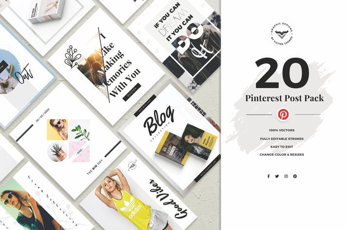 Thumbnail for Pinterest Social Media Template