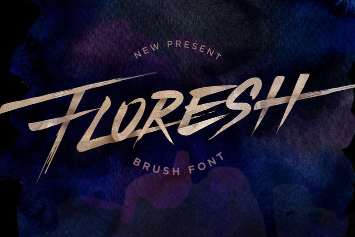Thumbnail for Floresh Typeface - Brush Font