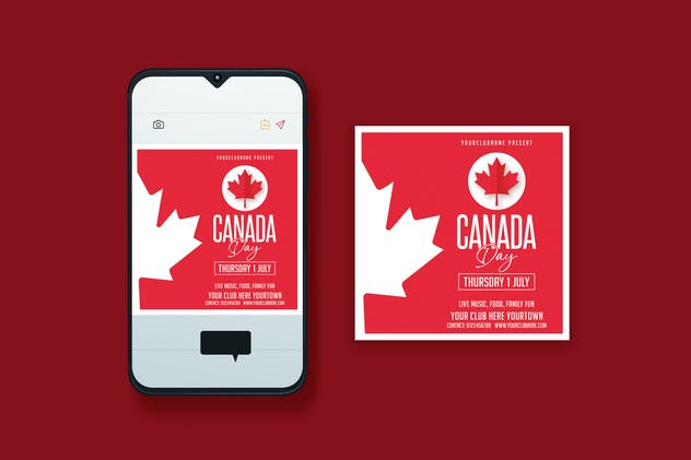 Canada Day Instagram Post