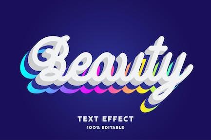 Beauty gradient text effect