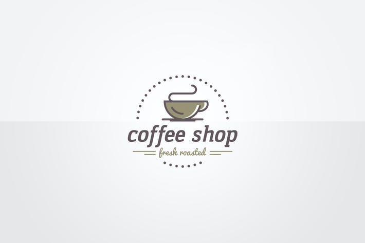 Thumbnail for Coffee Shop Logo Template