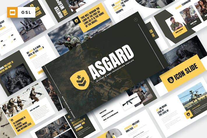 Thumbnail for ASGARD - Military & Army Google Slides Template