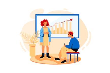 Revenue Analytics Illustration concept