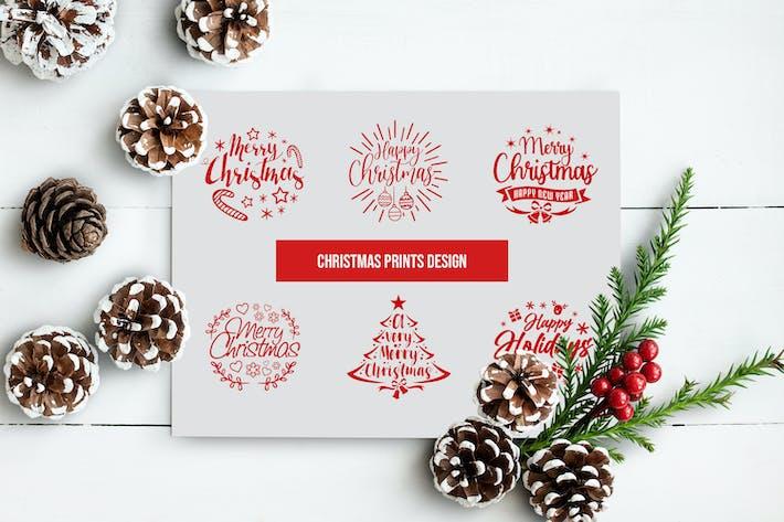 Thumbnail for Merry Christmas Text Overlays, Christmas Word Art