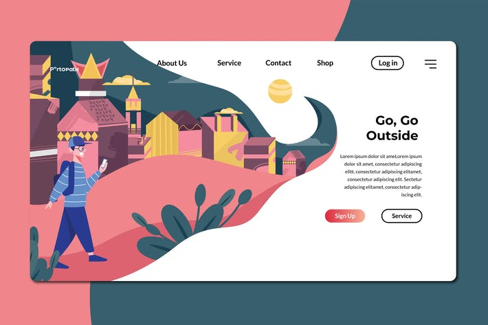 Thumbnail for Go Outside  Banner & Landing Page