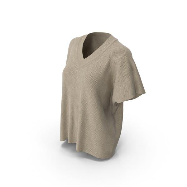 Женская футболка Бежевый