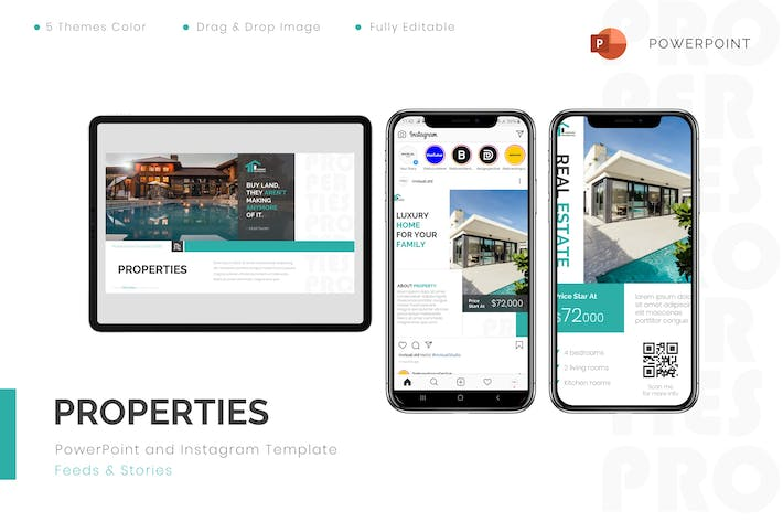 Thumbnail for Properties - Powerpoint & Instagram Template