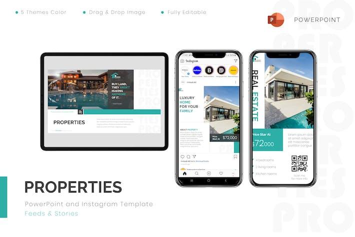 Properties - Powerpoint & Instagram Template