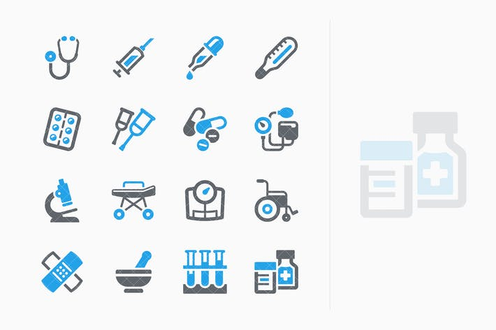 Thumbnail for Blue Medical Equipment & Supplies Icons - Sympa