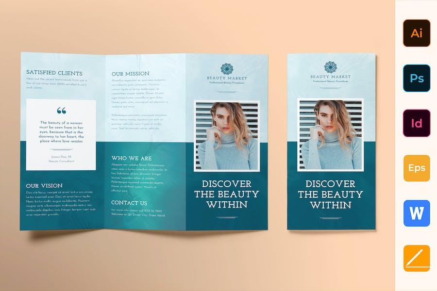Beauty Market Brochure Trifold