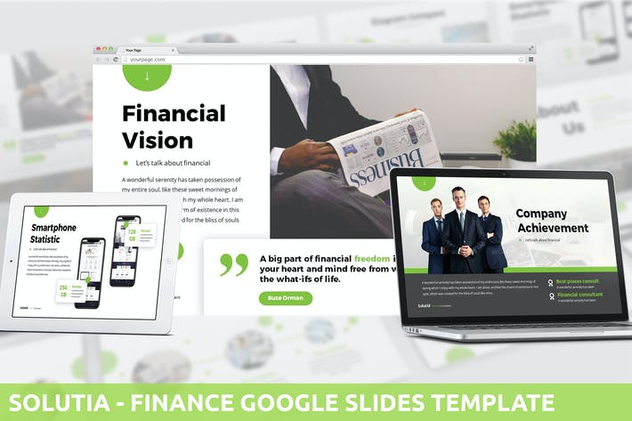 Thumbnail for Solutia - Finance Google Slides Template