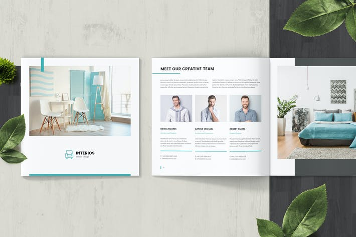 Thumbnail for Interios – Interior Design Square Brochure