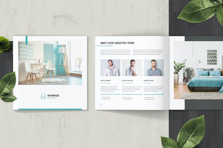 Cover Image For Interios – Interior Design Square Brochure