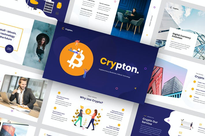 Thumbnail for Crypton - Cryptocurrency Keynote Template
