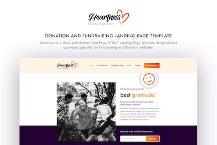 Heartness - Fundraising / Donation Landing Page