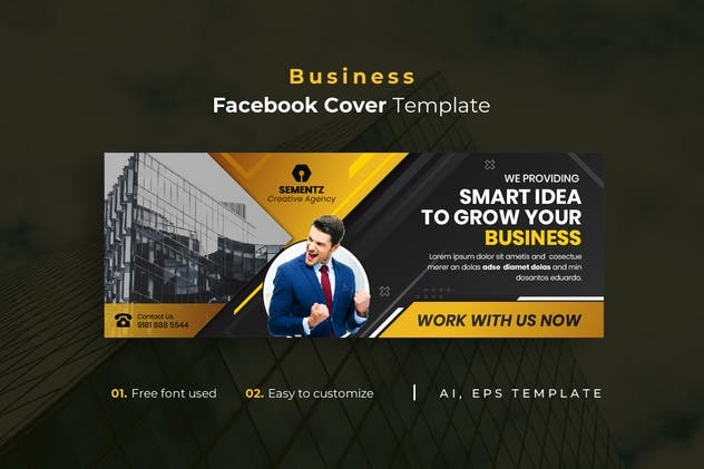 Business r24 Facebook Cover Template